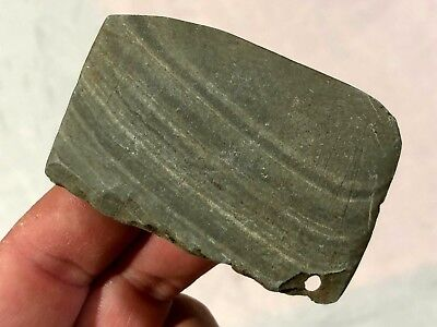 Outstanding Slate Pendant Fragment Adams Co, Oh. Authentic Arrowhead Artifact H3