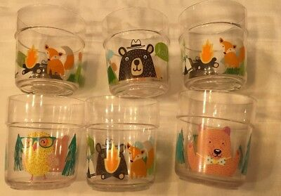 Set of 12, break-resistant plastic bears Owls kids cup tumblers, bowls BPA Free