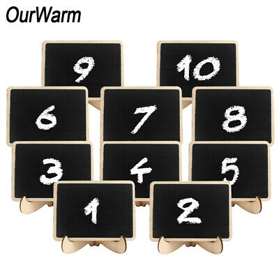 100×Mini Chalkboards Signs with Easel Stand Small Chalkboard Signs Place Cards