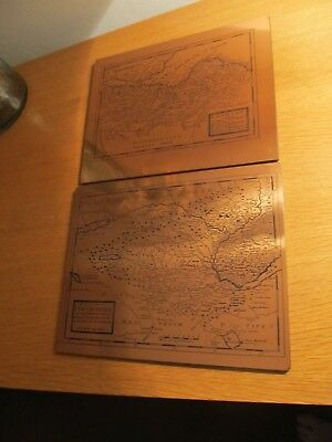 Counties Of Lothian And Fife, Pentland Medieval Copper Etched Style  Picture.