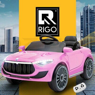 RIGO Kids Ride-On Car Maserati Inspire Battery Electric Toy Remote Control Pink