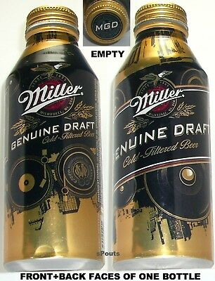 2013 Miller Genuine Draft Pint Gold Eagle Aluminum Bottle Beer Can Milwaukee, Wi