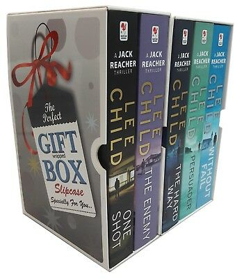 Lee Child Collection Jack Reacher Without Fail 6-10 Books Gift Wrapped Box Set
