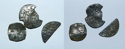 3 X English Hammered Silver Coins
