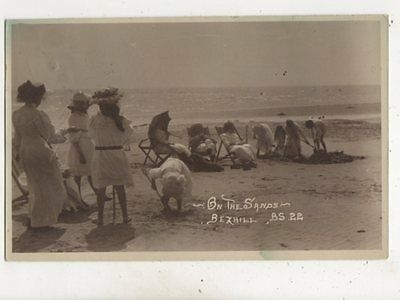 Bexhill On The Sands Sussex 1913 RP Postcard FJ Parsons 609b