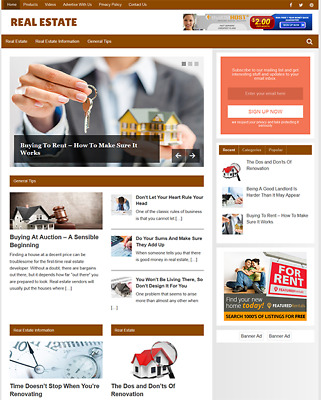 REAL ESTATE GUIDE - Fully Featured Niche Website For Sale - Newbie Friendly