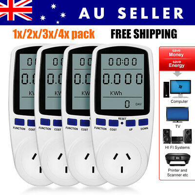 AU Plug Power Meter Energy Consumption Monitor Electricity Usage Tester Socket