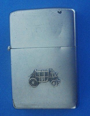 1958 Zippo Cigarette Lighter: FISHER BODY Automotive; w/Iconic Buggy Image