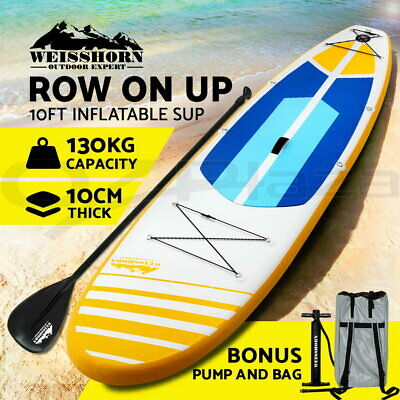 "Weisshorn Stand Up Paddle Board 11"" Inflatable SUP Paddleboard Surfboards Kayak"