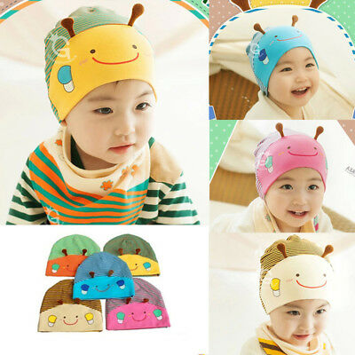 US Baby Boy Girl Infant Toddler Cute Bee Cotton Elastic Spring Autumn Hat Beanie