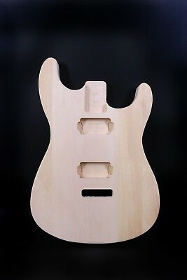 New Electric guitar body Replacement Unfinished Basswood HH Style Strat