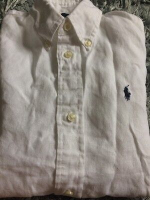 Boys RALPH LAUREN White Linen Shirt - Age 7