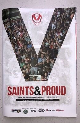ST.HELENS V  HUDDERSFIELD GIANTS SUPER 8s RUGBY LEAGUE PROGRAMME 10/08/18