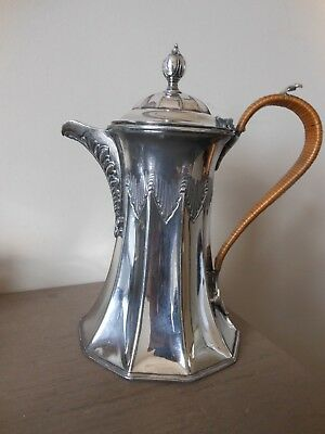 Antique Victorian Silver Plate Coffee Pot James Deakin & Sons Circa 1888