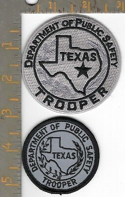 2- Texas DPS Highway Patrol Trooper State Police Patch TX Dept Public Safety