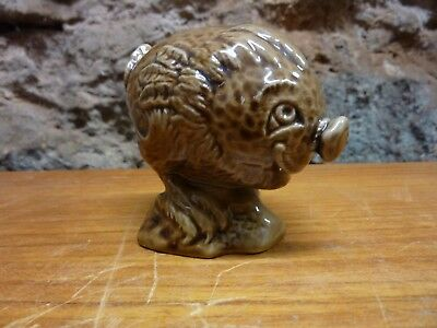 Vintage Haggis miniature Whisky flask by Beswick 1972 Empty but has rare label