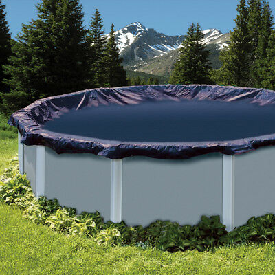 Swimline 24 Foot Round Above Ground Swimming Pool Leaf Net Top Cover | CO918