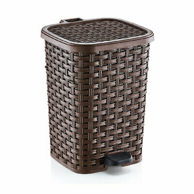Superior Performance Plastic 6.8 Gallon Step On Trash Can