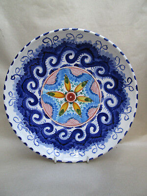 A Lovely Hand Painted Hanging Wall Plate Colourful Mediterranean