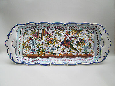 A Lovely Colourful Tapas Oblong Serving Dish Plate Bird Portugal