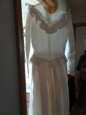 Vintage wedding dress custom made 1948
