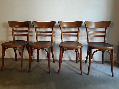 4 chaises bistrot FISCHEL Wissembourg années 20,  style Thonet