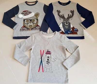 New Boys Designer Angel and Rocket Autumn Winter Jumper Next Christmas Age 3-10