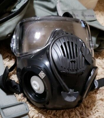 AVON M50 GAS MASK(Small), STORAGE BAG, and CBRNE Chem Suit