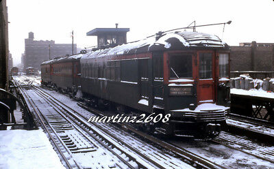 Orig. Traction / Trolley Slide Cns&m (Chicago, Il) No Visible Number Scene