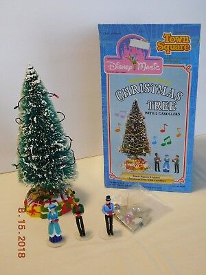 Vtg Town Square Disney Magic Lighted Musical Christmas Tree w 3 Carollers & Box