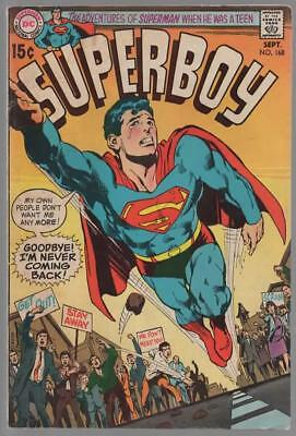 SUPERBOY 168 VG Sept. 1970  NEAL ADAMS COVER