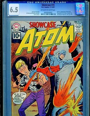 Showcase #35 DC COMICS 1961 2nd Silver Age Appearance of the Atom CGC Graded 6.5