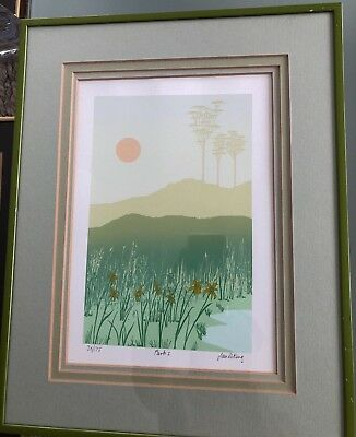 Ian Warwick King pencil signed limited edition serigraph screenprint