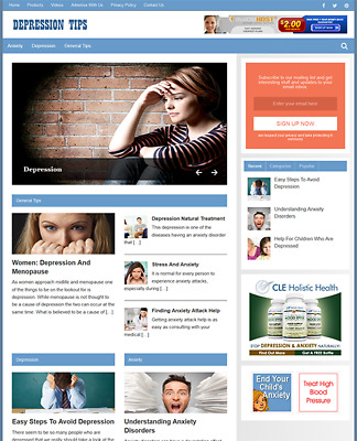 DEPRESSION - Fully Featured Niche Business Website For Sale - Newbie Friendly
