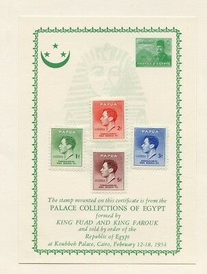 EGYPT PALACE COLLECTION King Fuad & Farouk Stamps PAPUA