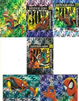 Spider-Man 2 30Th Anniversary 1992 Comic Images Prism Insert Card Set P7 - P12