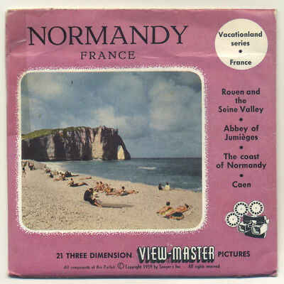 NORMANDY Normandie France 1959 ViewMaster Packet with Reels 1421-ABC