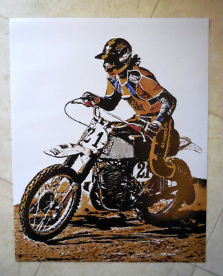 "Vintage Motocross RIDER-Steve Stackable Lake Whitney-16"" x 20"" NEW Poster-MAICO"