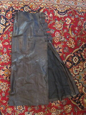 VINTAGE GORGEOUS CLAUDE MONTANA PARIS DYED LAMBSKIN LEATHER SKIRT French size 40