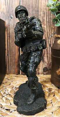Ebros Military Solider In Battle Figurine 7.25 Inch Tall