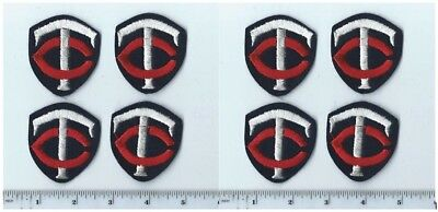 """Lot of 8 Vintage 1970s MLB Minnesota Twins 2"""" x 2"""" Square Patch (Sew or iron on)"""