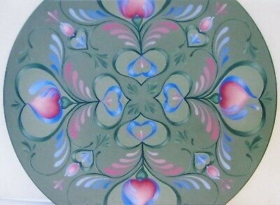 """Mary Svenson tole painting pattern """"Hearts Galore Strokework Lid"""""""