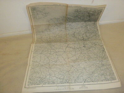 Scarce Ww 2 Map..special Map Paris-Berlin Dated 1944 Double Sided