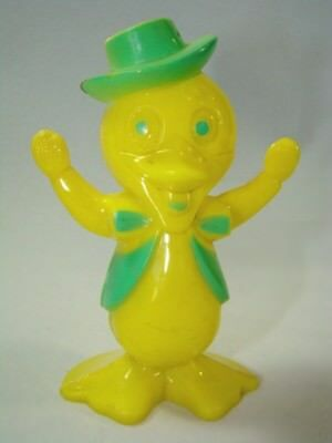ADORABLE Vintage Yellow Plastic EASTER Duck Decoration