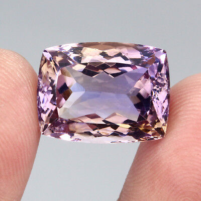 21.16ct. 18x14mm. Antique Cut 100%natural Top Bi Colors Purple Yellow Ametrine
