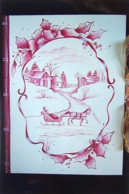"""Judy Diephouse/Lyn Deptula tole painting pattern """"Holiday Address Book"""""""