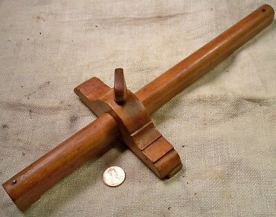 Vintage Wood 12 Inch Panel Marking Gage Or Gauge Good Shape Collectible Tool
