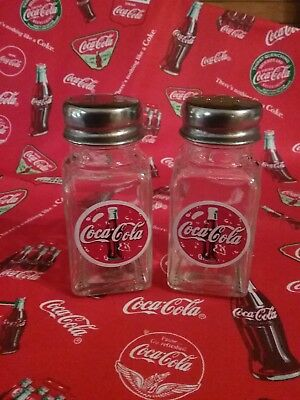 New Salt & Pepper Shakers, Red and White, Handcrafted, Coca-Cola, Coke