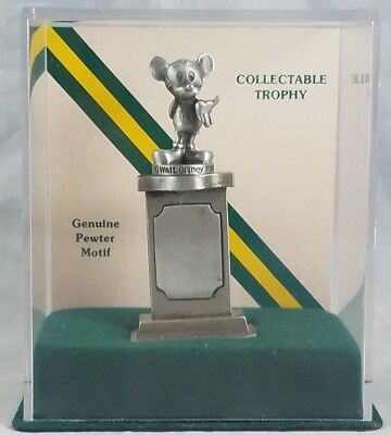 Disney Mickey Mouse Genuine Pewter Motif Collectable Trophy Fort Mint in Case