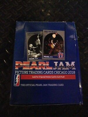 2018 Pearl Jam Official Chicago Wrigley Field Trading Cards Full Box 48 Packs